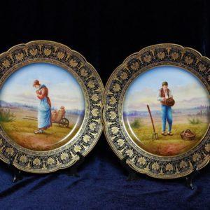 Парные тарелки Франция колекционные тарелки