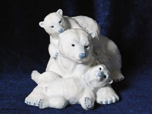 фарфор медведи полярные Дания,Royal Copenhaven