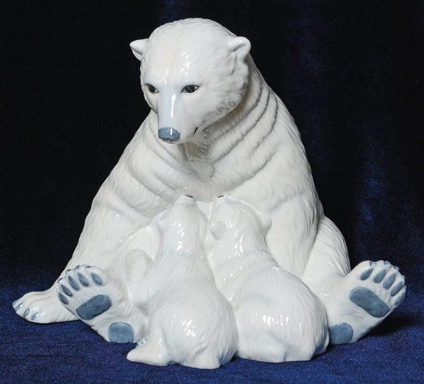 Медведица с медвежатами Royal Copenhaven