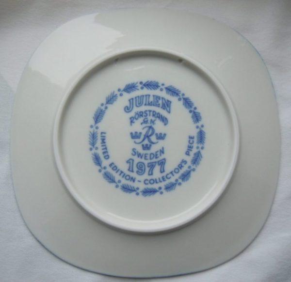 Шведский фарфор,годовые тарелки