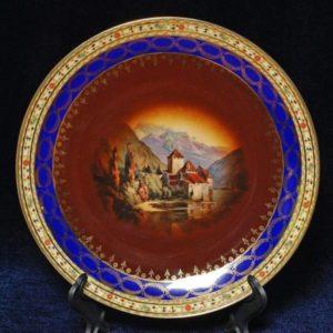 Чешский фарфор Тарелка декоративная Karlsbad