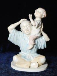 Японские статуэтки Норитаке малыш дети костяной