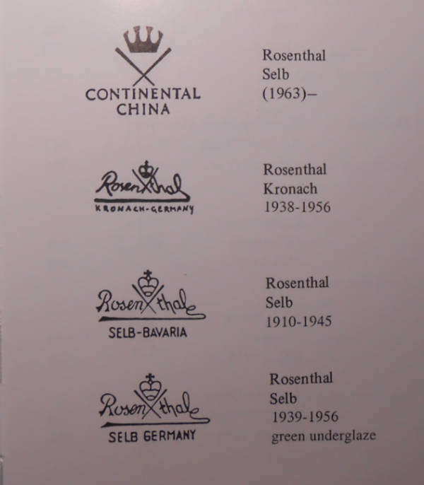 Розенталь марки