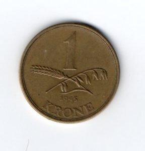 1 Krone 1945 Denmark