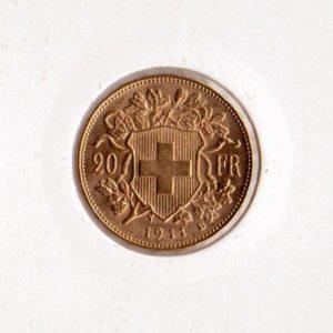 20 франков Швейцария