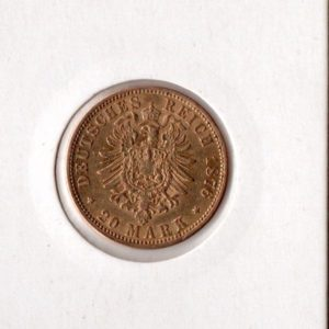 Гамбург 20 марок 1876 год