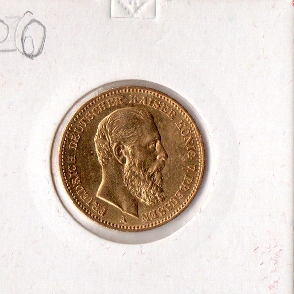 20 марок 1888 Германский Рейх