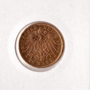 Германский Рейх 20 Марок 1900 года