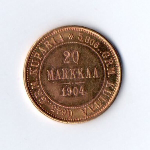20 марок финляндия золотоj