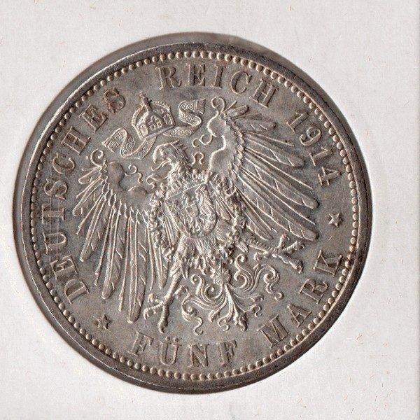 5 Марок 1914 год германский Рейх