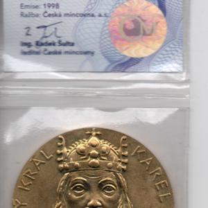 Медаль Чехия Карл четвёртый