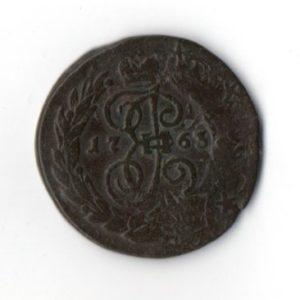 2 Копейки 1763 перечекан