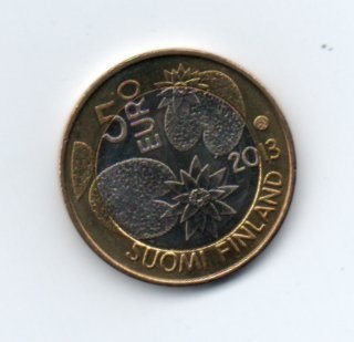 5 Евро Кувшинки Финляндия аверс