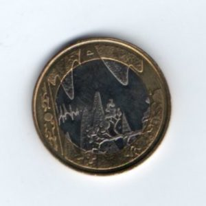 5 Евро кувшинки реверс
