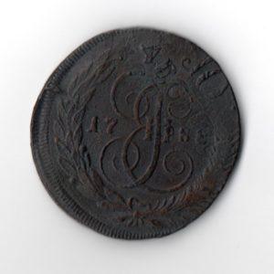 5 Копеек перечекан 1788
