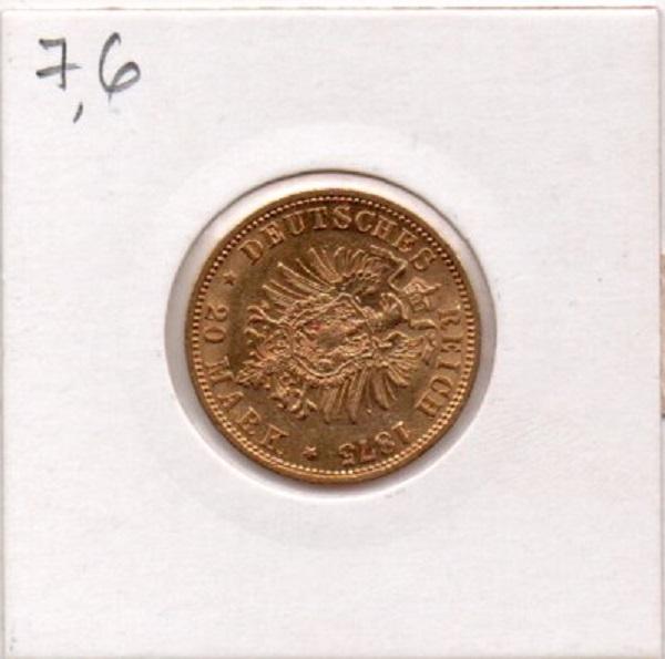 20 марок 1875 год