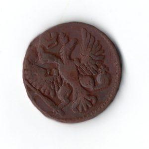 Денга 1749 год патина
