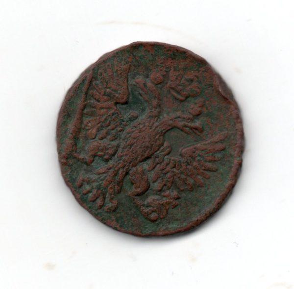 Денга 1750 год разменная монета