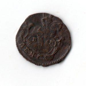 Деньга 1786 год медная монета