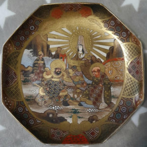 Satsuma Япония золотая тареклка