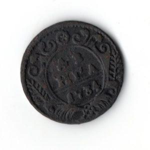 Денга 1734 год медь