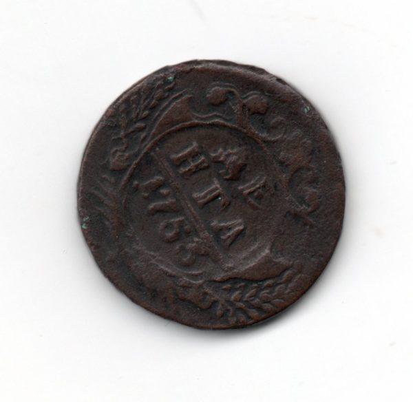 Денга 1753 год медная монета