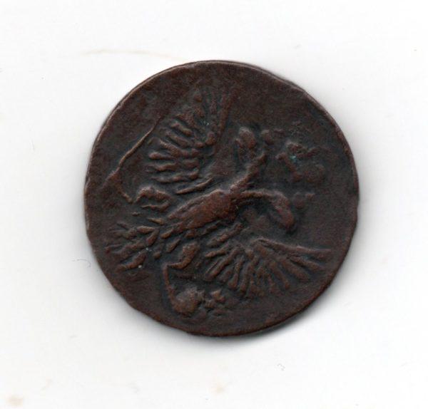 Денга 1753 год медь разменная