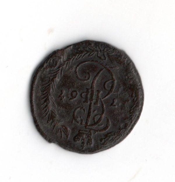 Денга 1767 год ЕМ разменная монета