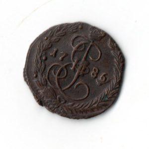 Денга 1786 год ЕМ медная