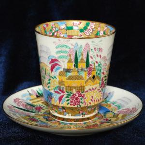 Кофейная пара коллекционная ЛФЗ роспись