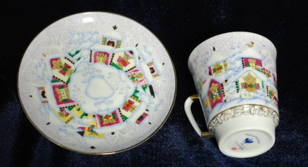 ЛФЗ кофейная пара костяного фарфора