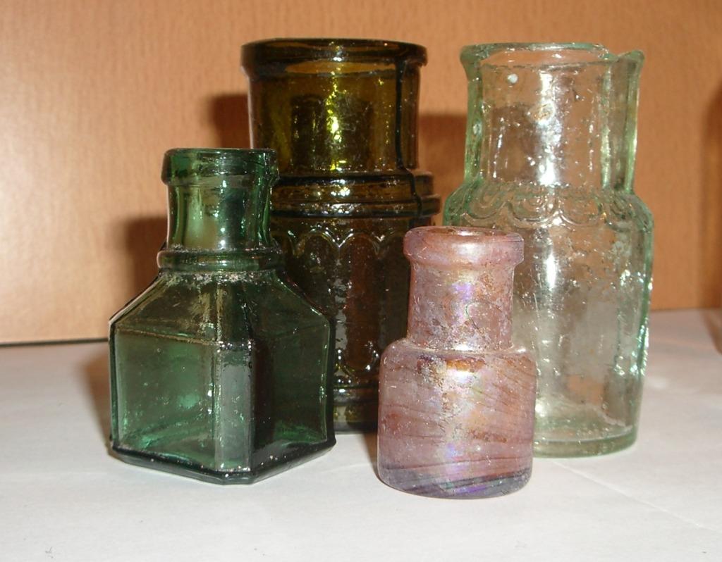 Старинное тарное стекло России