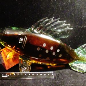 Коньячная фигурная бутылка - Рыба.