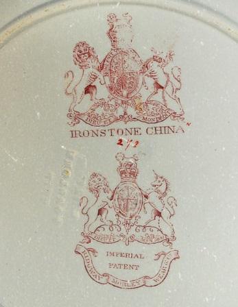 Марка на фарфоре Ridgway Morley Wear & Co