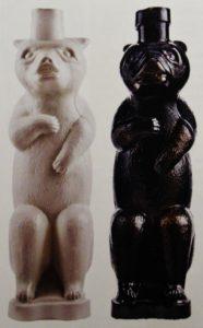 бутылки-медведи стекло редкое